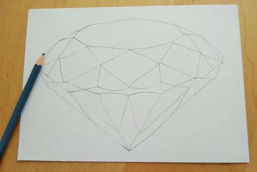 Jak vykouzlit diamant na papír: Namalujte si diamant akvarelem! 2