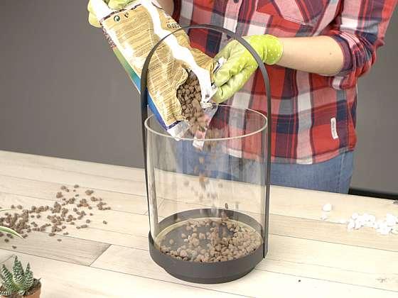 Jak vytvořit mini skalku do bytu: Zahrada ve skle 1