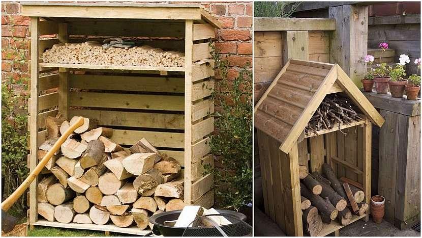Dřevo do kamen: příruční domečky