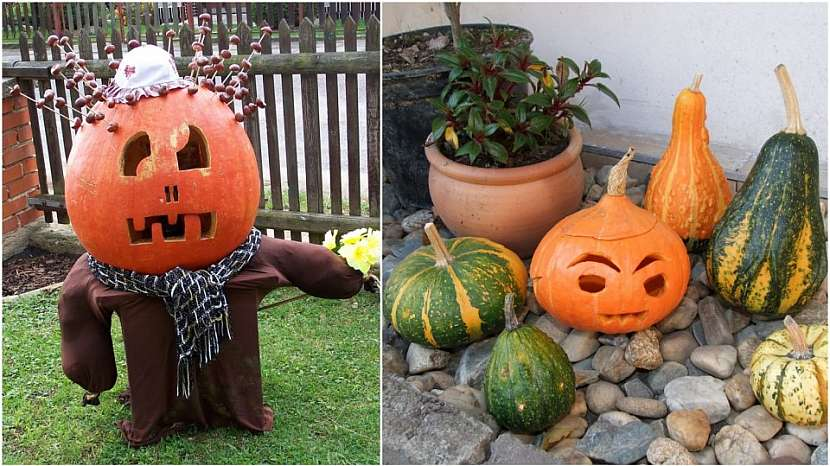 Dýňoví strašáci patří k podzimu: strážce zahrady