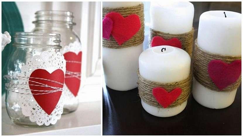 Valentýnské drobnosti: romantické svíčky