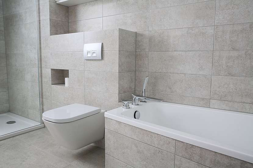 Moderní koupelna v minimalistickém stylu