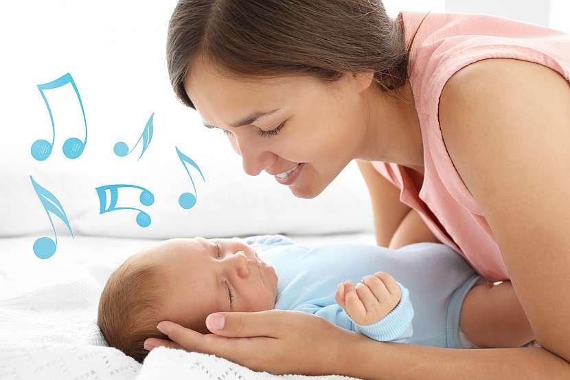 Propojení něžných slov ukolébavek a jemných houpavých pohybů navozuje v dětech pocit bezpečí