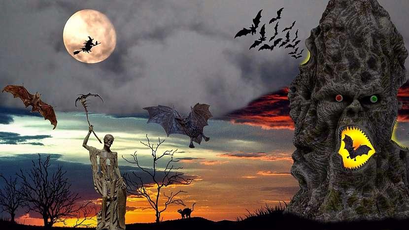 Halloweenská noc je plná duchů, bubáků a čarodějnic...