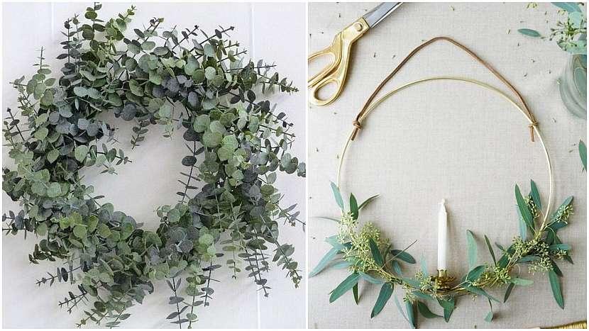 Vánoce ve znamení minimalismu: vánoční věnce