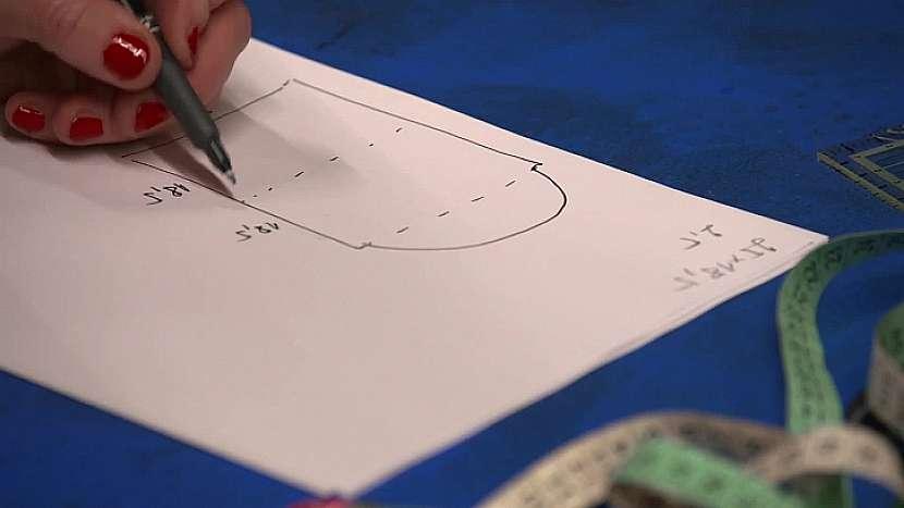 Nejprve si uděláme nákres a spočítáme rozměry