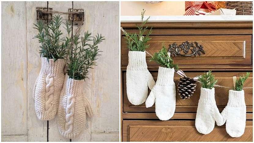 Recyklované Vánoce: Plněné rukavičky