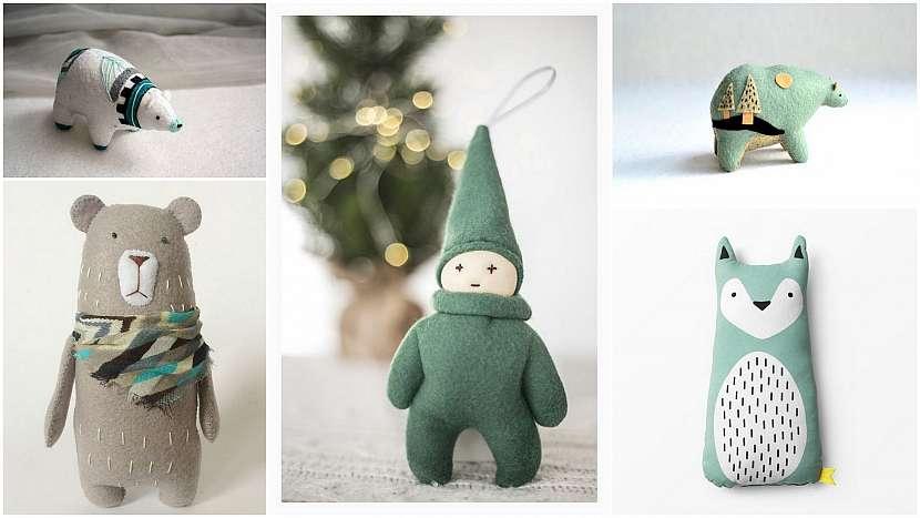 Vánoce ve znamení minimalismu: hračky jako dekorace