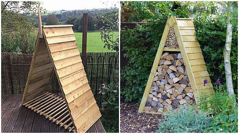Dřevo do kamen: postavte si pyramidu
