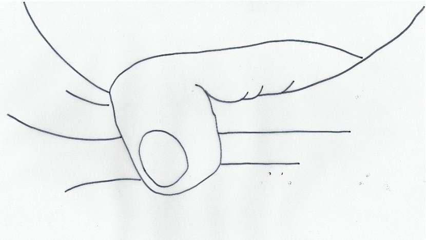 Hubnoucí tričko: motiv prstů - předloha číslo dvě