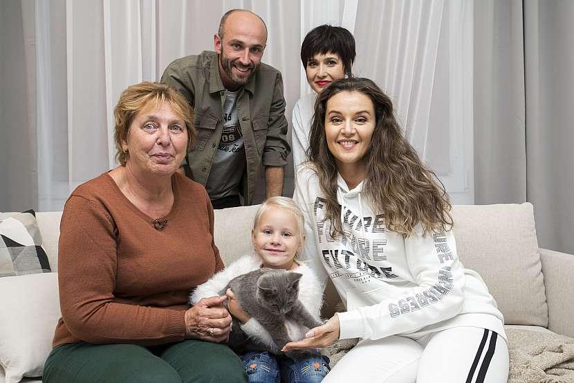 Babička, Kristýnka, Iva, Andrea a Marek