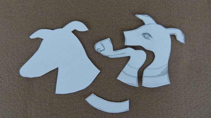 Vyšívaná brož z plsti podle fotografie rodinného mazlíčka: připravte si šablonu