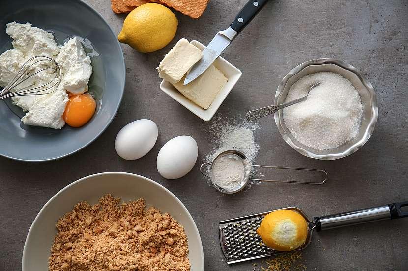 Ingredience na koláč