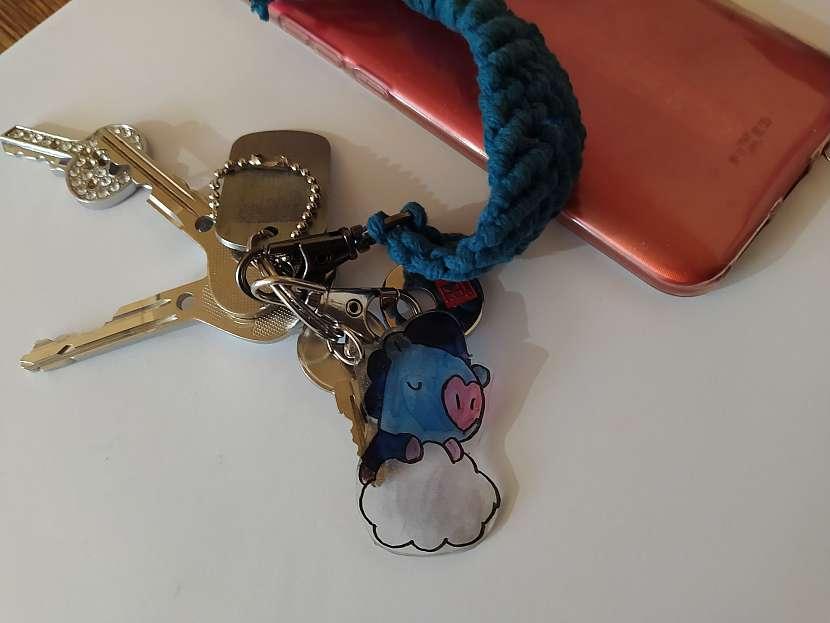Klíče s přívěsky, Mang z BTS a mobil