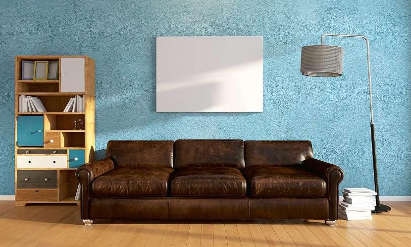 Stěna obarvená stejnobarevným tupováním-1