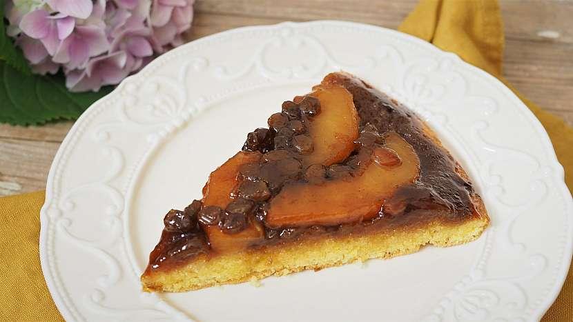 Recept na obrácený jablečný dort