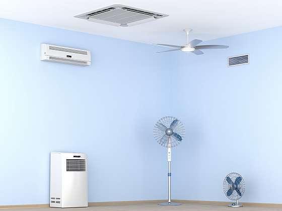 Možnosti chlazení interiéru: klimatizace, větrák nebo stropní chlazení? (Zdroj: Depositphotos)